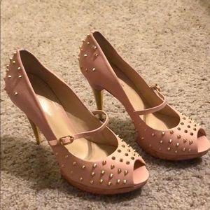 Pour La Victoire Pink Leather Heel